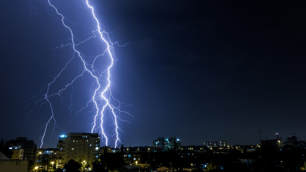 Lightning Storm Over A City At Night | Rack Electric